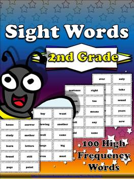 2nd Grade Sight Word List #2 - Second 100 High Frequency Words - Word Study