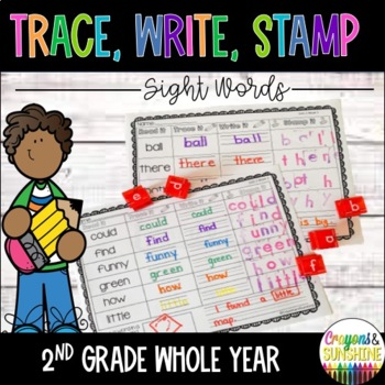2nd Grade Sight Words Stamp it, Trace it, Write it-WONDERS McGraw Hill