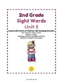 2nd Grade Sight Words Unit 5