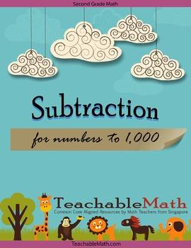 2nd Grade Singapore Mastery Method Worksheet - Subtraction