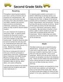2nd Grade Skills List-Parent handout Open House