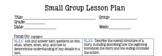 2nd Grade Small Group Lesson Plan (RL)