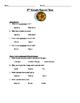 2nd Grade Soccer Unit Plan
