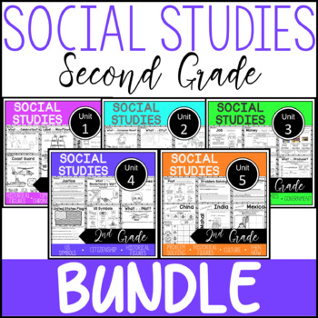2nd grade social studies history unit teaching resources 2nd grade social studies bundle whole year worksheets fandeluxe Image collections