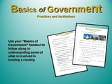 """2nd Grade Social Studies """"Basics of Government"""" - engaging PPT and handouts"""