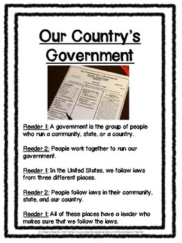 2nd Grade Social Studies Buddy Reading: Government