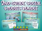 2nd Grade Social Studies Bundle: handouts & PPTs on Govt, Econ, families & more