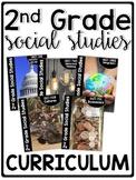 2nd Grade Social Studies Curriculum Bundle | Homeschool Compatible |