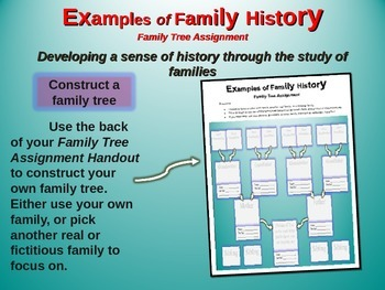 "2nd Grade Social Studies ""Family History"" - engaging PPT and handouts"