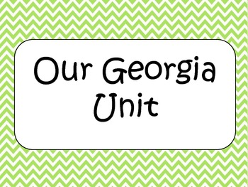 2nd Grade Social Studies Georgia Performance Standards and EQ Posters