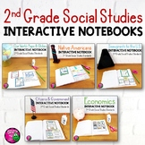 2nd Grade Social Studies Interactive Notebook BUNDLE 5 Units