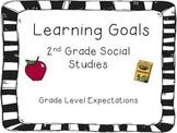 2nd Grade Social Studies Learning Goals Cards