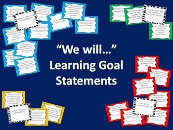 2nd Grade Social Studies Learning Goals Cards