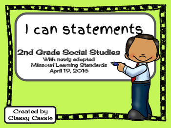 2nd Grade Social Studies Missouri Learning Standards I can