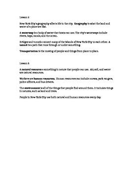 2nd Grade Social Studies Notes