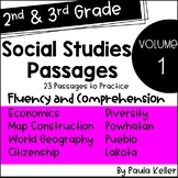 VOLUME 1:  Social Studies Passages for Fluency and Comprehension