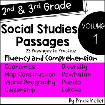 2nd Grade Social Studies Passages for Fluency and Comprehension