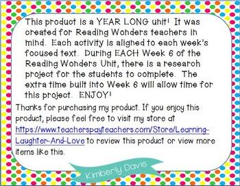 2nd Grade Social Studies Reading Wonders Aligned Activities BUNDLE
