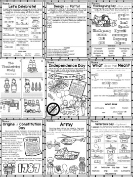 2nd Grade - Social Studies - Unit 1 - Historical Figures, Holidays, Timeline