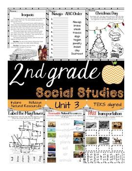 2nd Grade - Social Studies - Unit 3 - Indians, Natural Resources, Holidays.....