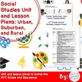 Urban, Suburban, Rural Communities 2nd Grade Social Studies Unit Plans
