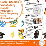 3rd Grade Social Studies Vocabulary Cards: Intro World Geography Communities (L)