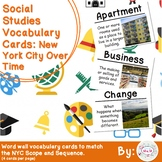 2nd Grade Social Studies Vocabulary Cards: New York City Over Time