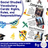 2nd Grade Social Studies Vocab Cards: Rights, Rules, and R