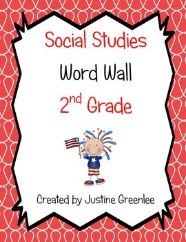 2nd Grade Social Studies Word Wall