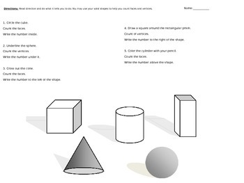 2nd Grade Solid Shapes Lesson
