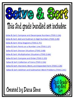 2nd Grade Solve & Sort Bundled Set