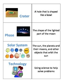 2nd Grade Space Technology Science Flash Cards