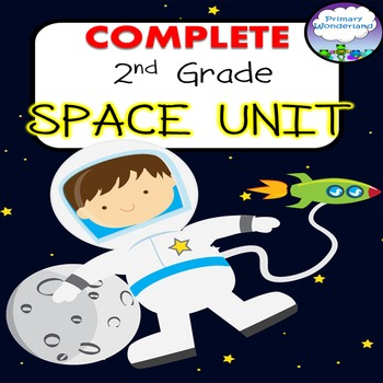 2nd Grade Space Unit COMPLETE with  Power Point and No-Prep Printables
