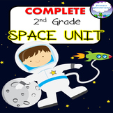 2nd Grade Space Unit COMPLETE  Power Point and No-Prep Printables Distance Learn