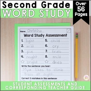 2nd Grade Spelling Assessments EDITABLE
