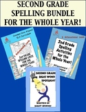 2nd Grade Spelling Bundle for the Whole Year! Lists,Activities & Sight Word Work