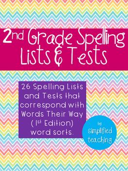 2nd Grade Spelling Lists {Simplified Teaching}