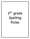 2nd Grade Spelling Rules- Reach for Reading Unit 1