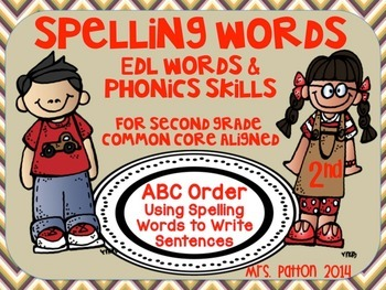 2nd Grade Spelling Unit EDL Words Aligned to Phonics and L