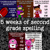 2nd Grade Spelling - Vowels, -le, Dipthongs, short /oo/, Valentine's, Football