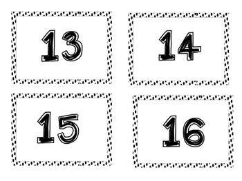 Polkadot Number Labels