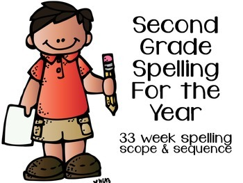 2nd Grade Spelling for the Year