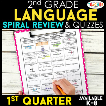 2nd Grade Language Spiral Review | 2nd Grade Grammar Practice | 1st Quarter