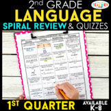 2nd Grade Language Spiral Review | Grammar Review | 1st Quarter