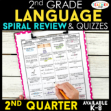 2nd Grade Language Spiral Review | Grammar Review | 2nd Quarter