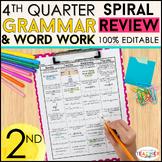 2nd Grade Language Spiral Review | 2nd Grade Grammar Review | 4th QUARTER