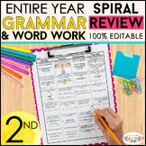 2nd Grade Language Spiral Review & Quizzes | Grammar Homew