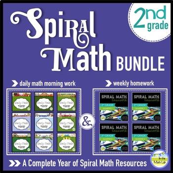 2nd Grade Spiral Math MEGA BUNDLE