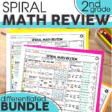 2nd Grade Spiral Math Review Bundle   2nd Grade Morning Work & Homework