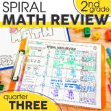 3rd Quarter Spiral Math Review | 2nd Grade Morning Work | Homework